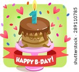 greeting card for happy... | Shutterstock .eps vector #289110785