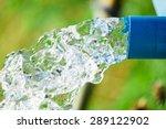 Blue Pump Pipe Water Flow...