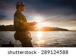 Man Fishing On A Lake