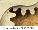 closeup image of white metal... | Shutterstock . vector #289135082