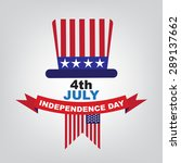 independence day american 4 th... | Shutterstock .eps vector #289137662