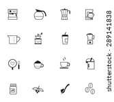 coffee icons | Shutterstock .eps vector #289141838