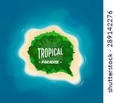 top view of a tropical island... | Shutterstock .eps vector #289142276