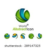abstract geometric business... | Shutterstock .eps vector #289147325