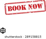 book now grunge rubber stamp on ... | Shutterstock .eps vector #289158815