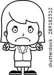 a cartoon businessperson girl... | Shutterstock .eps vector #289182512