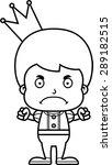 a cartoon prince boy looking... | Shutterstock .eps vector #289182515