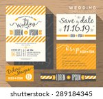 modern yellow stripe theme... | Shutterstock .eps vector #289184345