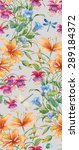 floral composition of different ... | Shutterstock . vector #289184372