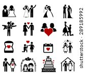 wedding vector icon | Shutterstock .eps vector #289185992