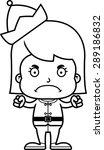 a cartoon xmas elf girl looking ... | Shutterstock .eps vector #289186832