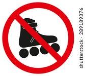 vector no roller skate sign | Shutterstock .eps vector #289189376