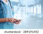 doctor using a digital tablet | Shutterstock . vector #289191452