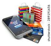 e commerce. online internet...   Shutterstock . vector #289191656