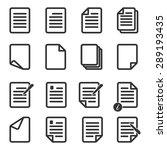 paper icon document icon vector ... | Shutterstock .eps vector #289193435
