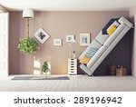 strange living room  interior.... | Shutterstock . vector #289196942
