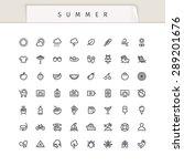 summer and vacation stroke... | Shutterstock .eps vector #289201676