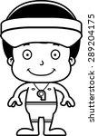 a cartoon lifeguard boy smiling.   Shutterstock .eps vector #289204175