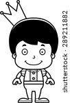 a cartoon prince boy smiling. | Shutterstock .eps vector #289211882