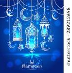 greeting card ramadan kareem... | Shutterstock .eps vector #289212698