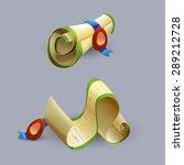 cartoon scrolls icons . vector...