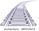 curved endless train track.... | Shutterstock .eps vector #289214615