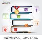 books step education... | Shutterstock .eps vector #289217306
