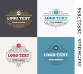 flourishes calligraphic emblems.... | Shutterstock .eps vector #289227896