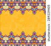 yellow stripe ornament on... | Shutterstock .eps vector #289229405