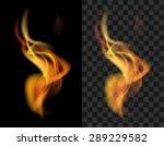 fire transparent translucent... | Shutterstock .eps vector #289229582