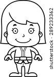 a cartoon karate girl smiling. | Shutterstock .eps vector #289233362