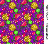 colorful pattern with fruit | Shutterstock .eps vector #289234382