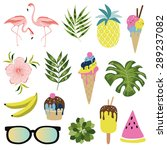 summer icon set. vector... | Shutterstock .eps vector #289237082