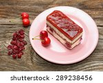 cherry cake and cherry on... | Shutterstock . vector #289238456