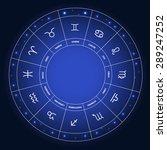 set of symbol zodiac sign. ... | Shutterstock . vector #289247252