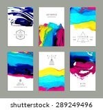hand drawn collection of... | Shutterstock .eps vector #289249496