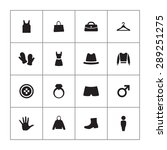 clothes icons universal set for ...   Shutterstock .eps vector #289251275