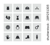 clothes icons universal set for ...   Shutterstock .eps vector #289251305