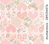 seamless patchwork pattern in... | Shutterstock .eps vector #289254476