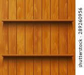 wooden shelf | Shutterstock .eps vector #289260956