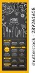 restaurant cafe menu  template... | Shutterstock .eps vector #289261658