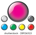 colored glossy vector buttons.   Shutterstock .eps vector #28926313