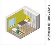 illustration of the interior of ... | Shutterstock .eps vector #289265348