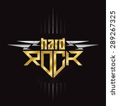 gold and silver hard rock badge ... | Shutterstock .eps vector #289267325