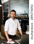 small business owner working at ... | Shutterstock . vector #289273052