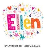 Ellen Girls Name Decorative...
