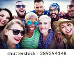 youth people amity summer party ... | Shutterstock . vector #289294148