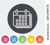 calendar. single flat icon on...   Shutterstock .eps vector #289298978
