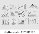 hand draw doodle elements chart ... | Shutterstock .eps vector #289301192