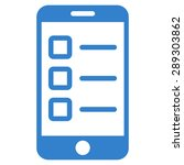 mobile test icon from business... | Shutterstock .eps vector #289303862